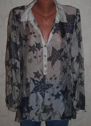 Блуза шелковая  (италия)