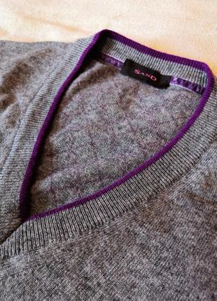 Шерстяной мужской свитер пуловер, шерсть кашемир sand