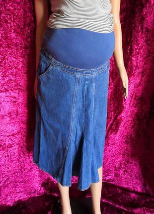 Джинсовая юбка миди для беременных hess natur