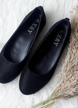 Женские туфли черного цвета, черные туфли на низком ходу, черн...