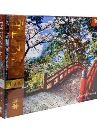 """Пазлы """"Прекрасная сакура, Токио, Япония"""", 1500 элементов"""