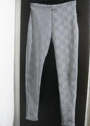 Брюки штаны club l англия лосины орнамент рисунок белые серый ...