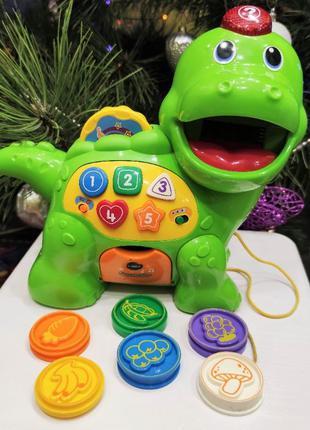 VTECH интерактивная музыкальная игрушка каталка дино