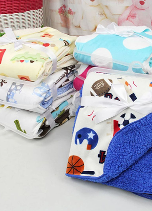 Детское одеяло плед пеленка конверт софт микрофибра флис