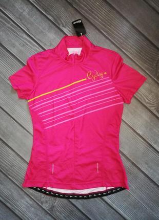 Розовая велофутболка, футболка для спорта м 40-42 crivit, герм...
