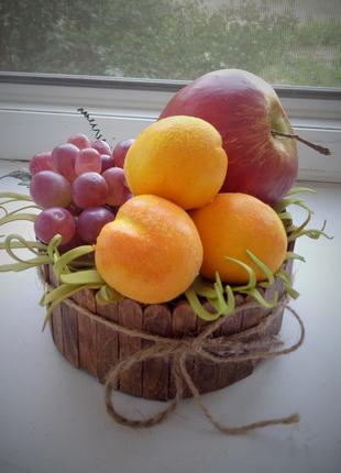 интерьерная композиция, ваза(фрукты)