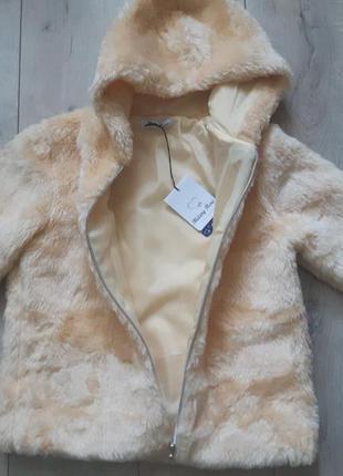 Меховая шубка с капюшоном. шуба куртка