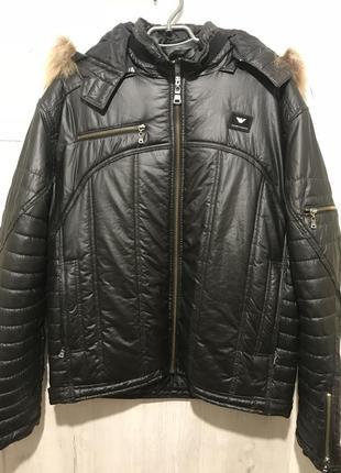 Мужская зимняя куртка emporio armani 071 {52}