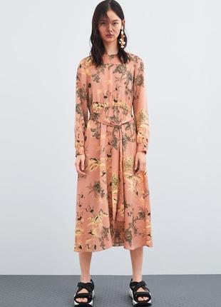 Платье мили в принт от zara