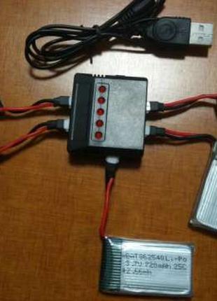 Зарядка аккумулятора 5 батарей для квадрокоптер Syma X5 X5C X5SW