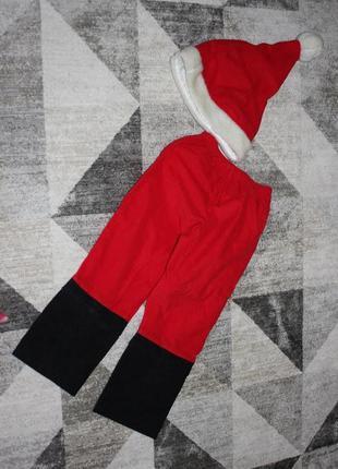 Новогодний костюм санта клауса от george на 3-4 года