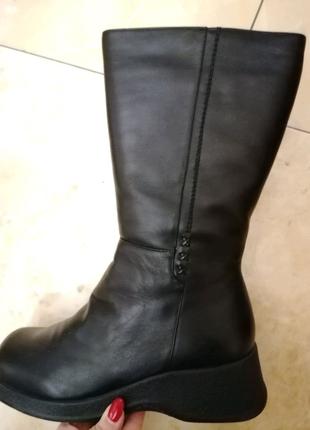 Сапоги кожаные фабричные новые