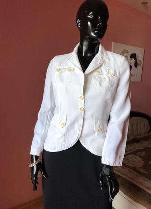 Пиджак лён, молочного цвета pinko италия, размер м