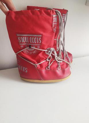 Красные луноходы угги снегоходы сноубутсы дутики