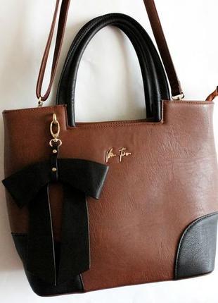 Новая коричневая сумка velina fabbiano
