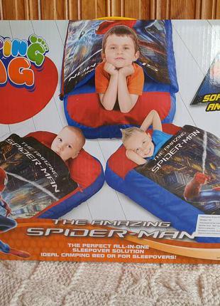 Надувной спальный мешок человек паук