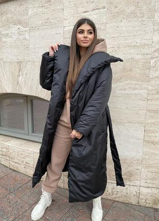 Куртка одеяло чёрная