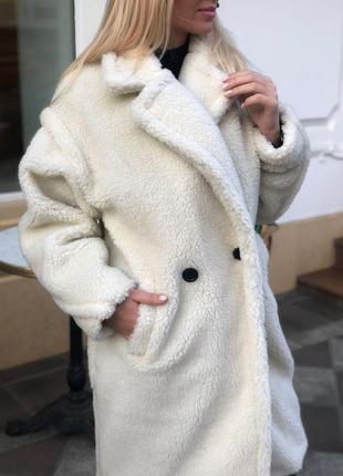 Пальто шубка белое