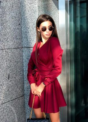 Бордо платье