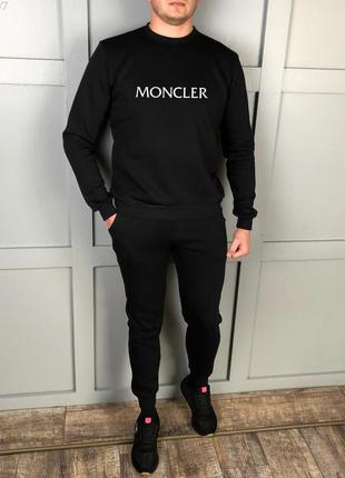 Спортивный костюм тёплый с принтом moncler | костюм спортивний...