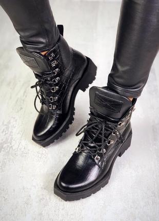 Хит-2019 натуральная кожа грубые осенние кожаные ботинки с ква...