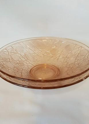 Салатники карамельное ажурное стекло ссср