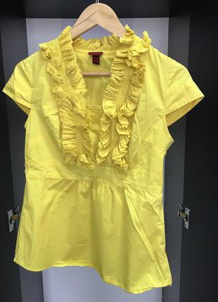 Блузка, блузка желтая, нарядная блуза, блузка оригинальная, блуза