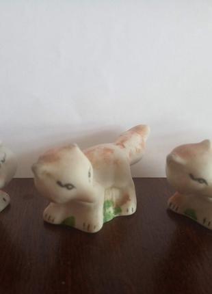 Лисички фигурки керамические периода СССР
