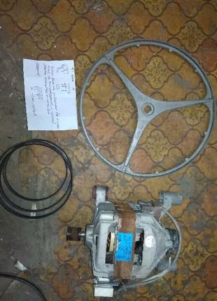 Комплект Шкив Мотор Двигатель Ремень Стиральной Машины Соковыжима