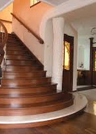 Профессиональное изготовление деревянных лестниц. Киев.