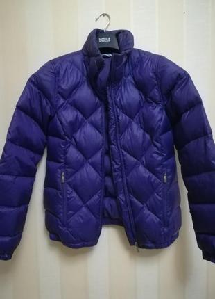 Куртка reebok , пуховик фиолетовый осень