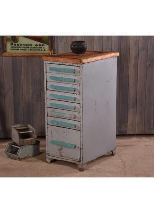 Тумба металлическая с ящиками, тумба в стиле лофт, ретро тумбочка