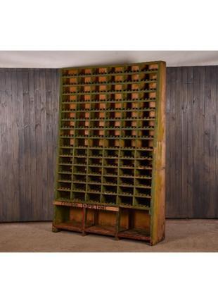 Лофт стеллаж деревянный, полка деревянная промышленная, стелла...