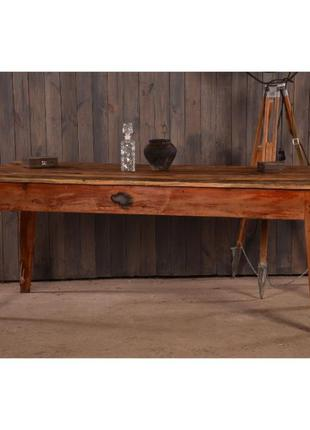 Ретро кухонный стол, винтажный обеденный стол, деревянный стол...