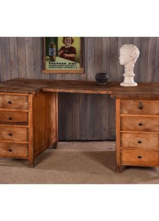 Рабочий стол ретро, винтажный письменный стол, деревянный стол...
