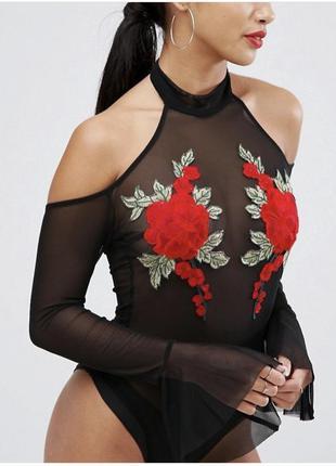 Боди с розами plt женское белье