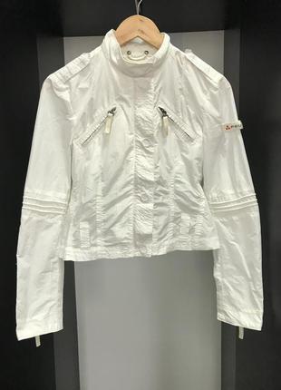 Куртка белая, куртка весенняя, куртка осенняя, куртка мотоциклет
