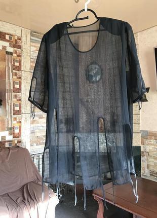Накидка-блузка прозрачная, можно под купальник