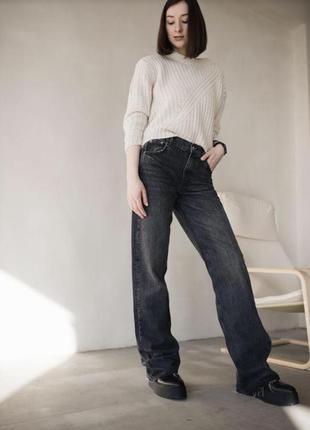 Широкие длинные прямые джинсы, штаны, брюки