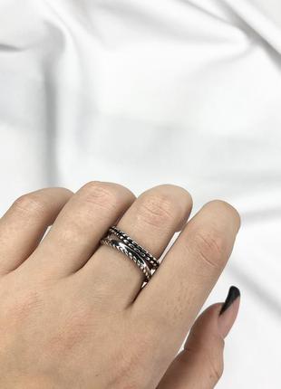 Серебряное кольцо женское city-a кольцо дугой из серебра 925