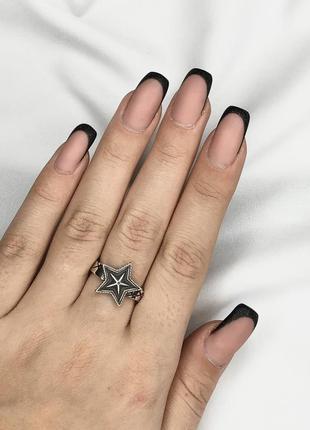 Серебряное кольцо женское city-a кольцо звезда из серебра 925
