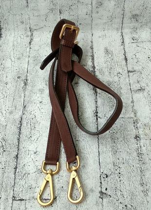 Оригинальный кожаный плечевой ремень prada