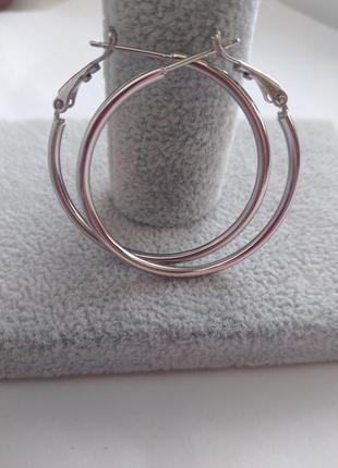 Серьги кольца 3,5 см.