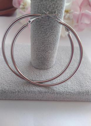 Серьги кольца 5 см.