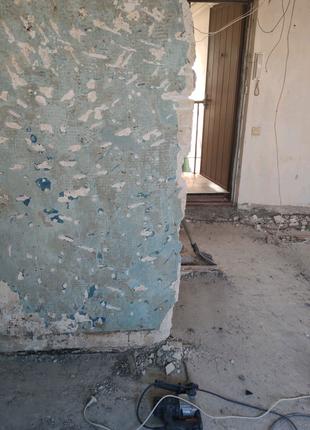Демонтаж штукатурки Киев сбить старую  штукатурку