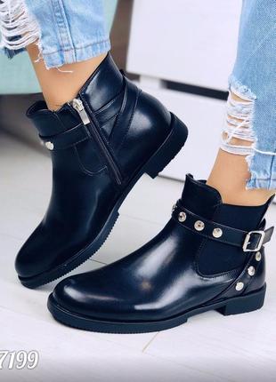 Стильные ботиночки деми на низком каблуке
