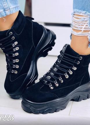 Спортивные ботинки деми на платформе