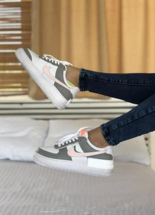 Женские кожаные кроссовки nike air force shadow