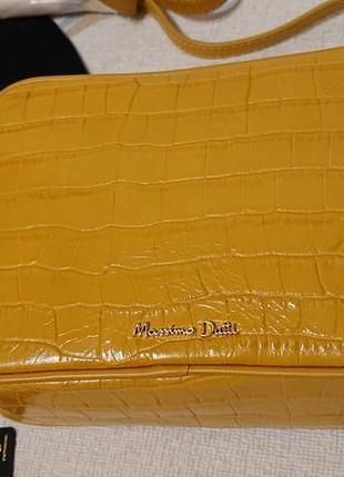 Женская сумка кроссбоди Massimo Dutti желтого цвета crossbody ...