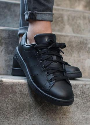 Кроссовки мужские Adidas x Raf Simons Stan Smith Black / Черные
